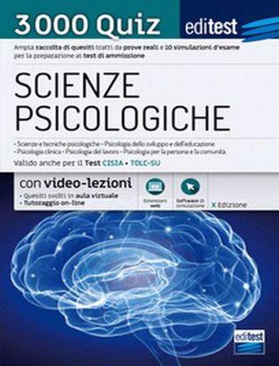 Immagine di EdiTEST. Scienze psicologiche. 3000 quiz. Ampia raccolta di quesiti tratti da prove reali e 10 simulazioni d'esame per la preparazione ai test di accesso
