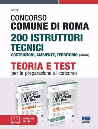 Immagine di Concorso Comune di Roma 200 Istruttori tecnici Costruzioni, ambiente, territorio (CUIT/RM). Kit completo