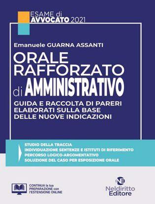 Immagine di Orale rafforzato diritto amministrativo 2021