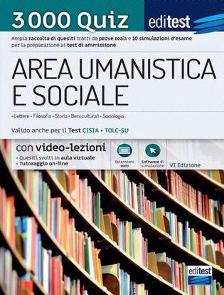 Immagine di Test ammissione area umanistica e sociale 2021: raccolta di 3.000 quiz. Valido anche per il TOLC-SU. Con espansione online. Con software di simulazione. Con videocorso