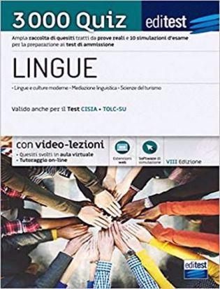 Immagine di Test ammissione Lingue 2021: raccolta di 3.000 quiz. Valido anche per il TOLC-SU. Con software di simulazioni. Con video-lezioni