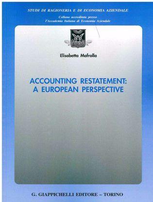 Immagine di Accounting restatement: a European perspective
