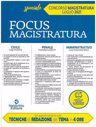 Immagine di Focus Magistratura Speciale Concorso Magistratura Luglio 2021
