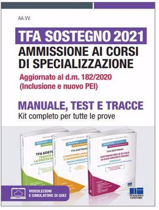 Immagine di TFA Sostegno 2021. Ammissione ai corsi di specializzazione. Kit completo per tutte le prove. Con espansione online. Con software di simulazione