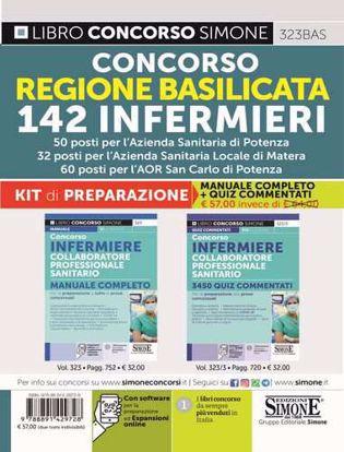 Immagine di Concorso Regione Basilicata 142 Infermieri – KIT di preparazione (323 + 323/3). Manuale Completo + Quiz Commentati – 50 posti per l'Azienda Sanitaria di Potenza – 32 posti per l'Azienda Sanitaria Locale di Matera – 60 posti per l'AOR San Carlo di Potenza