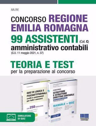 Immagine di Concorso Regione Emilia Romagna 99 assistenti amministrativo contabili (Cat. C) (G.U. 11 maggio 2021, n. 37). Teoria e test per la preparazione al concorso