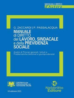 Immagine di Manuale di diritto del lavoro, sindacale e della previdenza sociale. Analisi di Principi generali, Istituti e problematiche dottrinali e giurisprudenziali