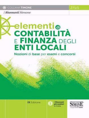 Immagine di Elementi di contabilità e finanza degli enti locali. Nozioni di base per esami e concorsi