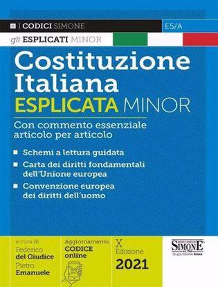 Immagine di Costituzione italiana esplicata. Con commento essenziale articolo per articolo. Ediz. minor