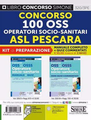 Immagine di Concorso 100 OSS operatori socio-sanitari ASL Pescara. Kit di preparazione. Manuale completo + Quiz commentati. Con software di simulazione