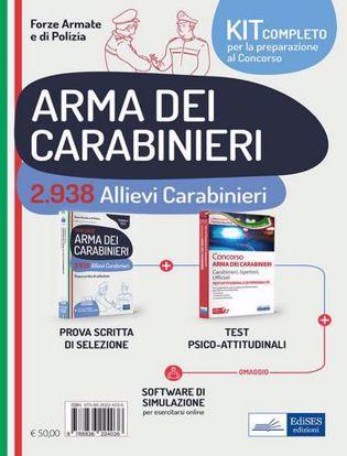 Immagine di Kit completo concorso 2.938 allievi carabinieri. Prova scritta di preselezione-Test attitudinali. Con software di simulazione