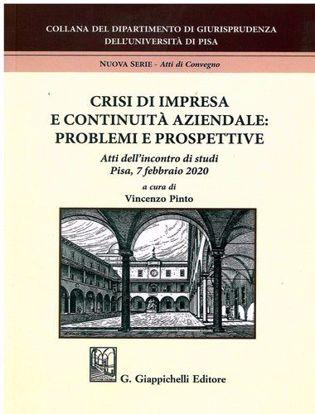 Immagine di Crisi di impresa e continuità aziendale: problemi e prospettive Atti dell'incontro di studi - Pisa, 7 febbraio 2020