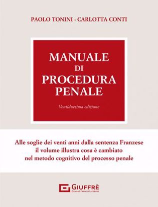 Immagine di Manuale di procedura penale