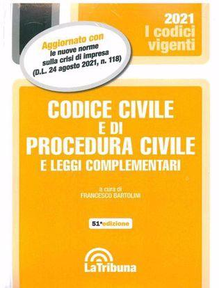 Immagine di Codice civile e di procedura civile e leggi complementari - Settembre 2021