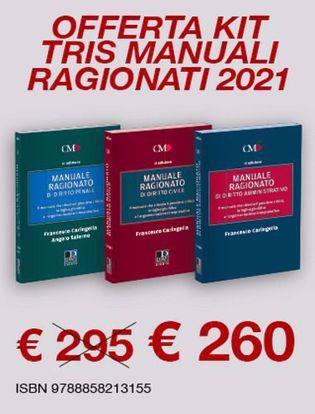 Immagine di Kit tris manuali ragionati 2021. Diritto civile-Diritto penale-Diritto amministrativo
