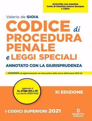 Immagine di Codice di procedura penale e leggi speciali2021. Annotato con la giurisprudenza. Nuova ediz.
