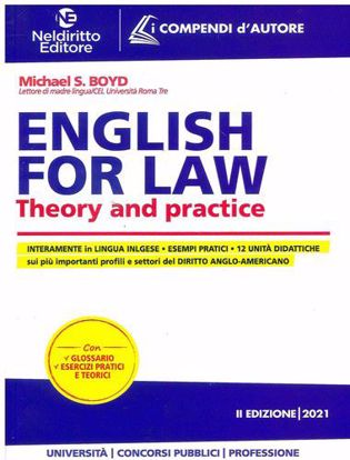 Immagine di ENGLISH FOR LAW - THEORY AND PRATICE